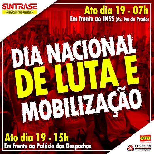 DIA NACIONAL DE LUTA -19 de Fevereiro